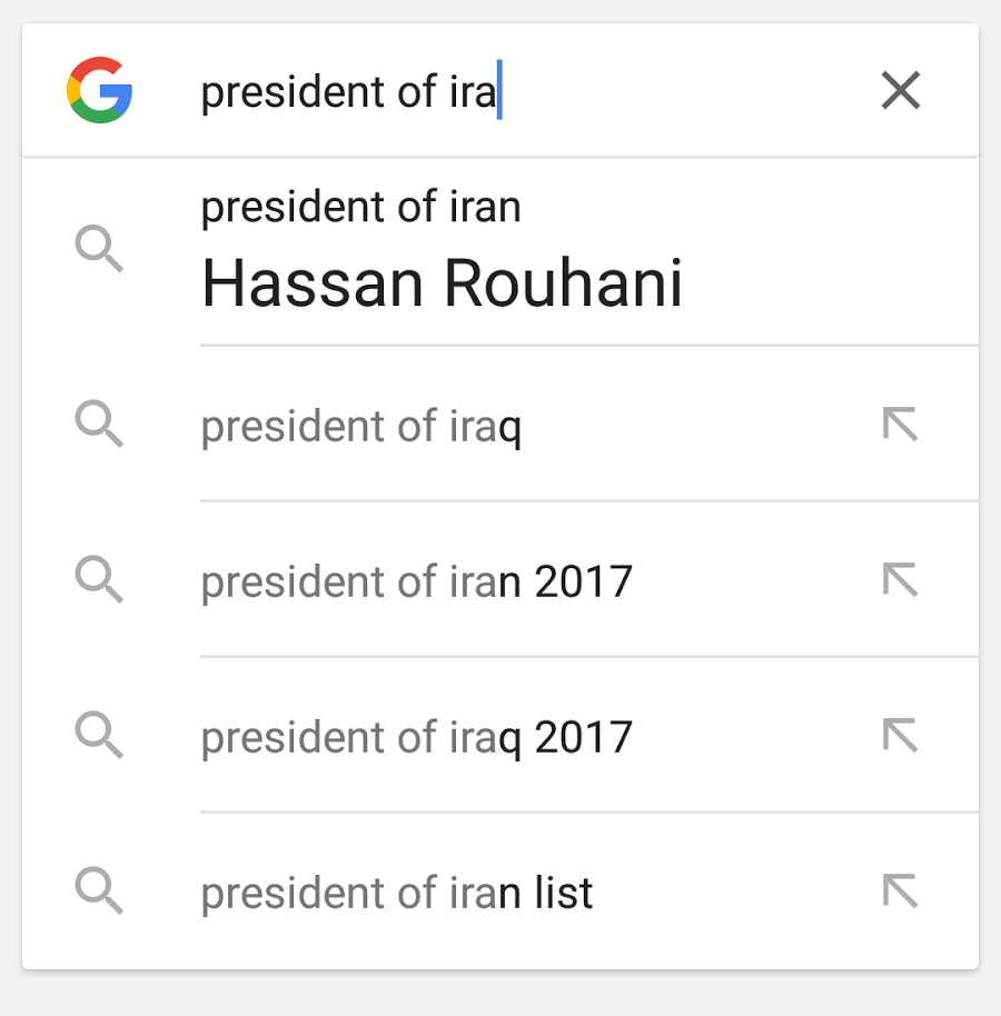 Google gives direct answer in the search bar