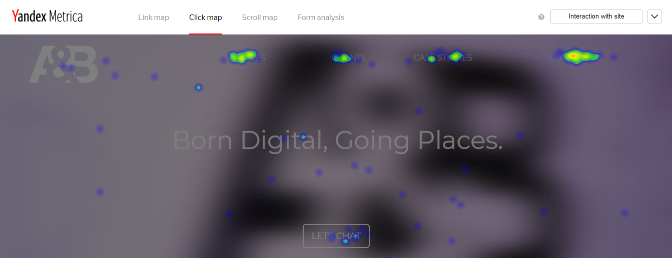 Click map (heat map) sample