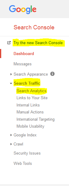 Image of search traffic