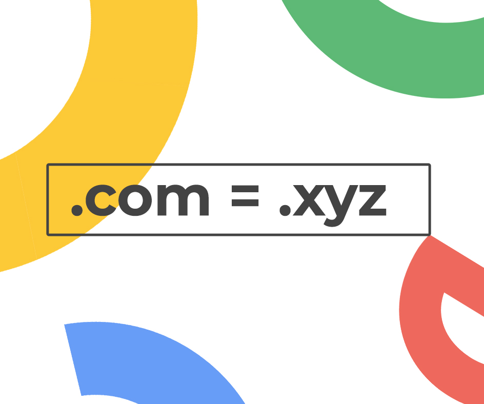 Your TLD's doesn't matter in SEO .com = .xyz